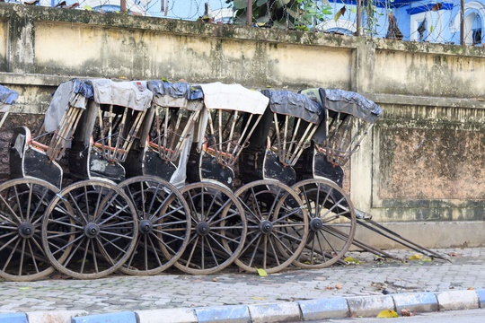 Traditional rickshaw, India