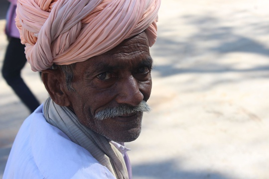 Turbaned man, Rajasthan, India