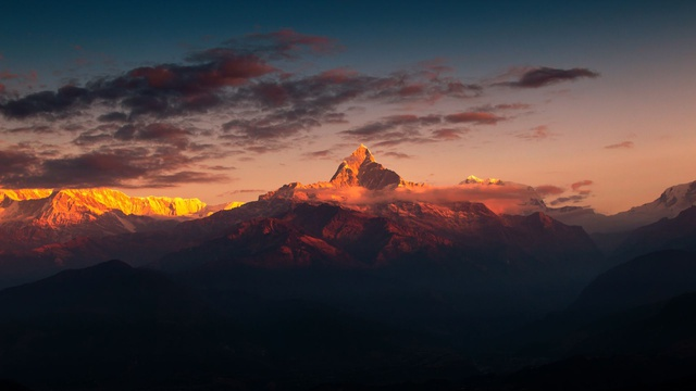 Fishtail Mountain, Annapurna Range, Nepal