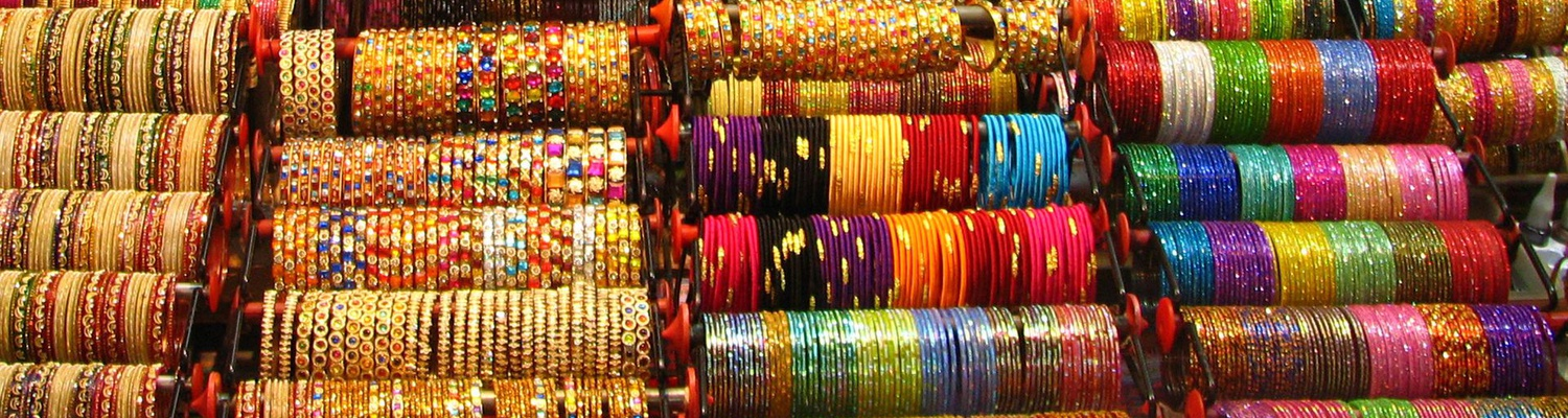 Colourful bangles, India