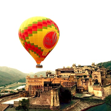 Hot air ballooning, Jaipur, India